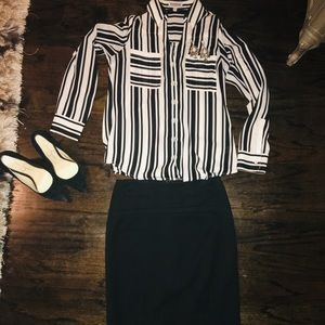EXPRESS BLOUSE AND SKIRT CASUAL WORK